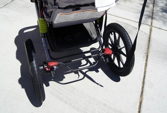 J is for Jeep jogging stroller brake