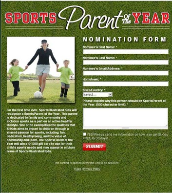 SportsParent of the Year 2012 - Nomination - Sports Illustrated Kids