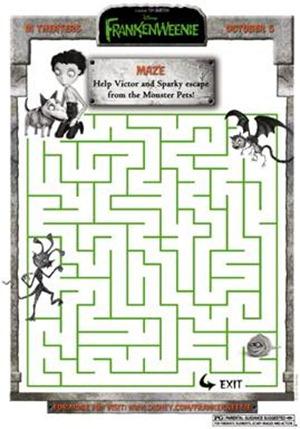 frankenweenie monster pet maze
