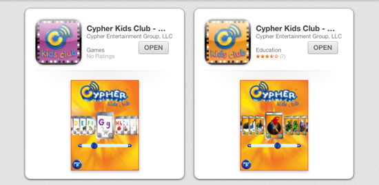 cypher kids club apps