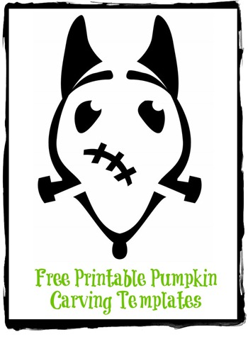 free printable pumpkin carving templates disney frankenweenie