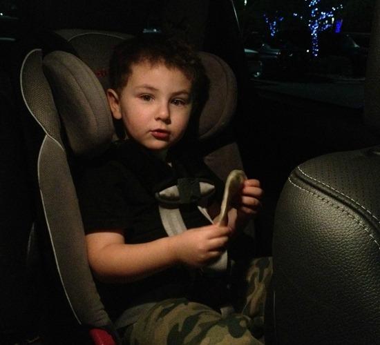 kidfresh quesadilla in car