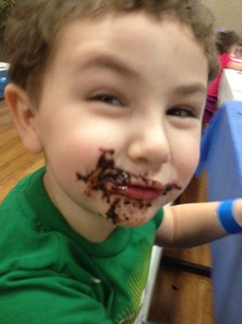 messy toddler
