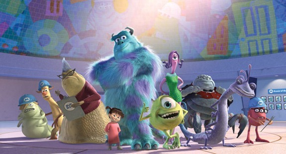monsters inc 3d cast