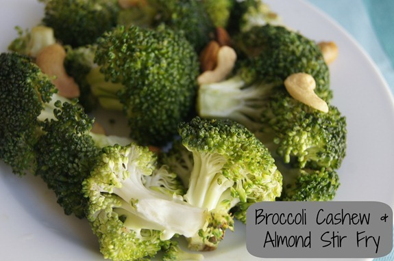 Broccoli Cashew & Almond Stir Fry Recipe