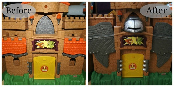 Imaginext Castle before and after