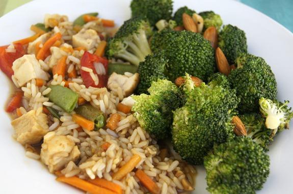Lean Cuisine and Broccoli Stir Fry