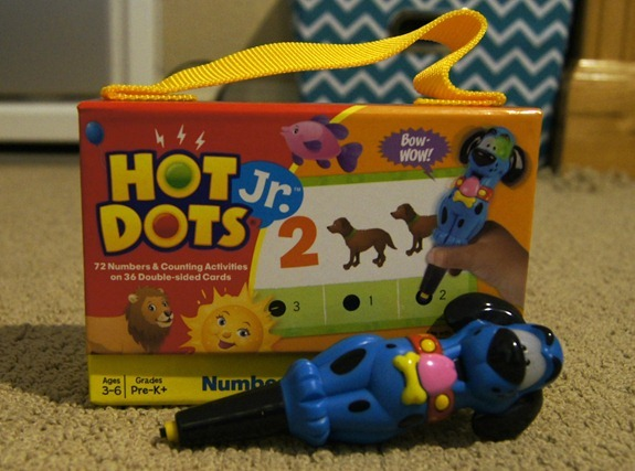 hot dots jr pen and cards