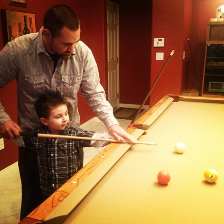new years eve playing pool