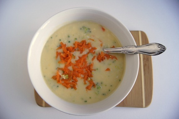 garnish with carrots