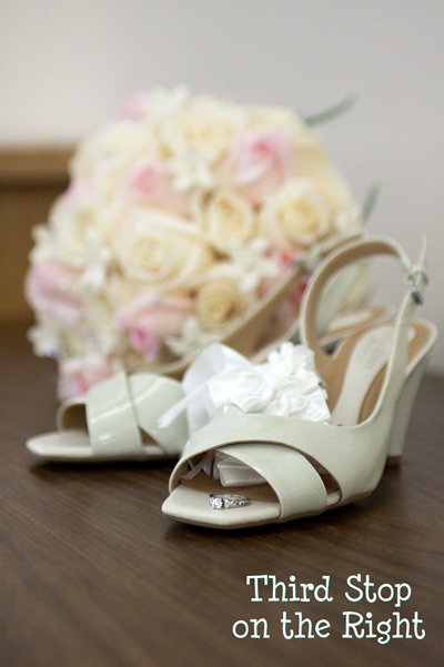 Wedding Bouquet, Ring and Shoes