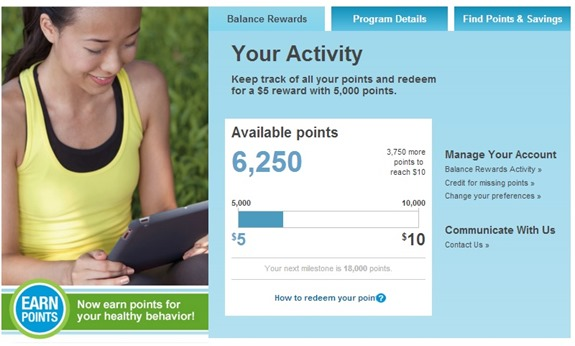 Balance Rewards Points