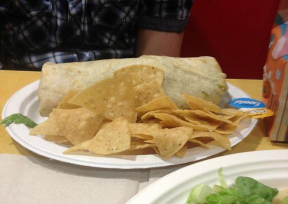 Chicken Burrito Especial at Rubio's