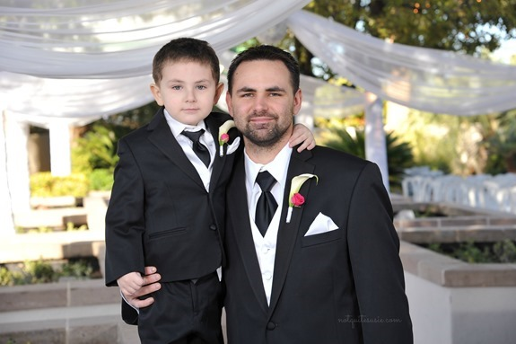 Dad and son at wedding