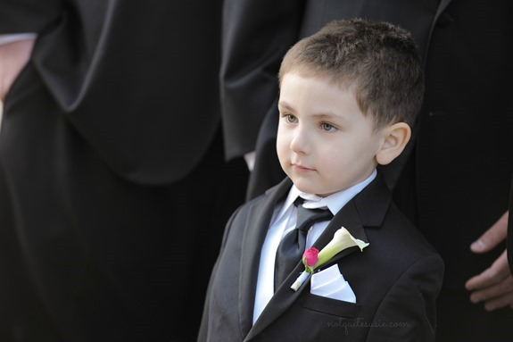 Son at wedding