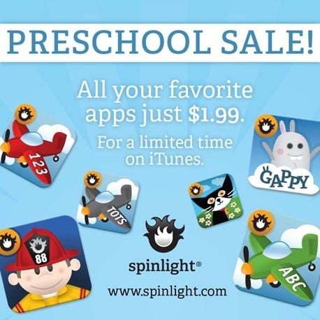 Spinlight Preschool Apps On Sale Now!