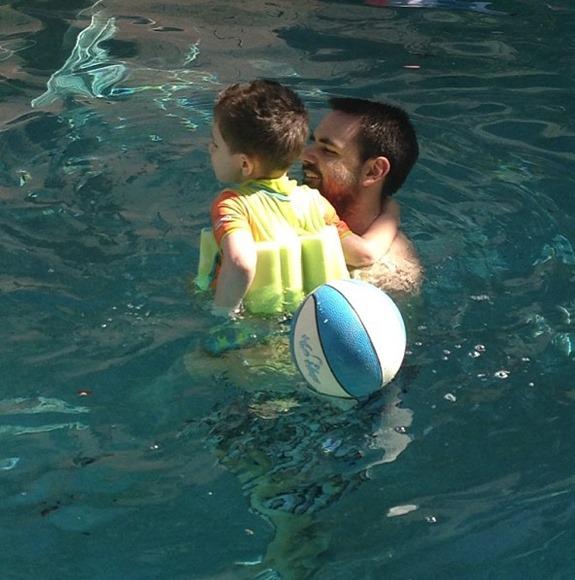 justin & shane swimming