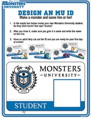 Design a Monsters University ID
