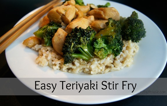 Easy Teriyaki Stir Fry by @NotQuiteSusie