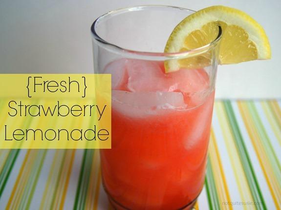 Fresh Strawberry Lemonade by @NotQuiteSusie