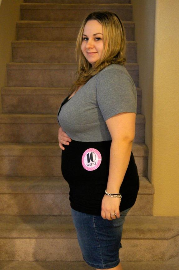 10 Week Pregnancy Belly Photo 2
