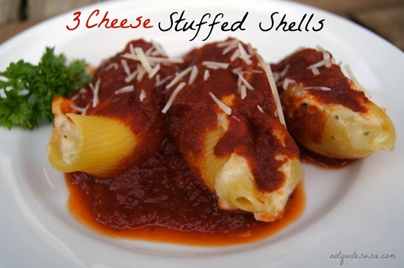 3 Cheese Stuffed Shells