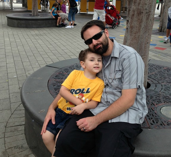 Dad and Son at Legoland