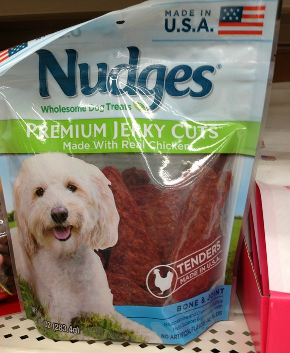 Nudges healthy dog treats made in USA