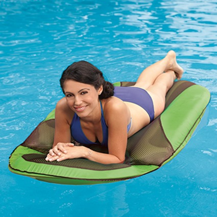 Relax in the Water with the Swimways Spring Float Sundry Lounge!
