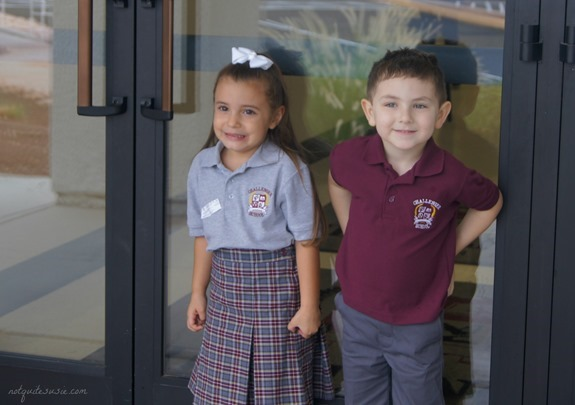 Shane and Lilly First Day of School 2013