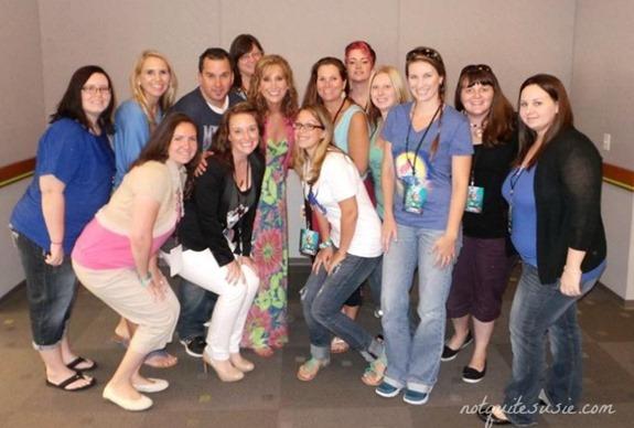 Jodi Benson voice of Ariel with bloggers