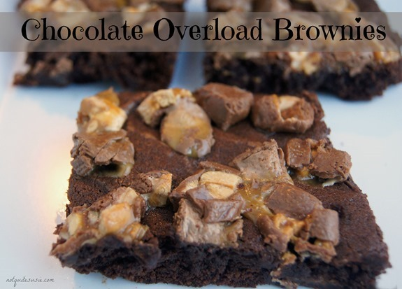Chocolate Overload Brownies Dessert Recipe {&Halloween Punch Idea!}