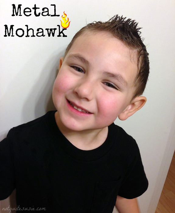 Metal Mohawk Hairstyle for Halloween