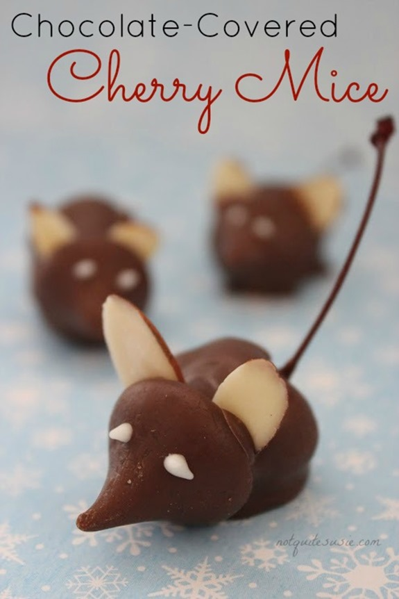 Easy Holiday Candy Recipe Chocolate Covered Cherry Mice