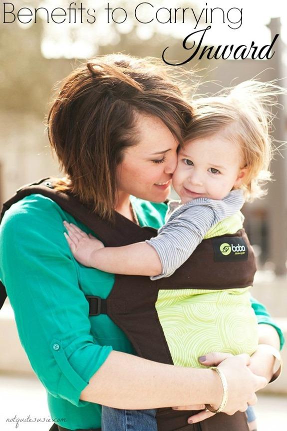 The benefits to carrying inward #babywearing