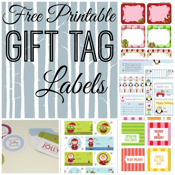 8 Free Printable Gift Tag Labels for Christmas