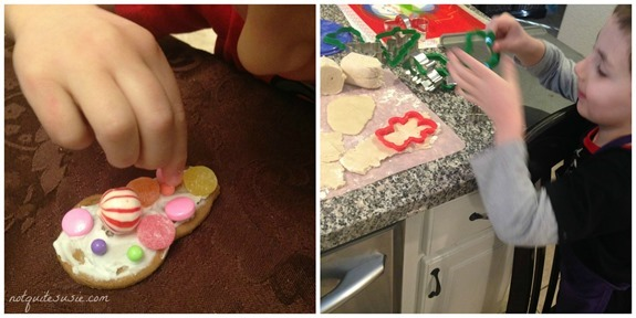 Decorating and Baking Christmas Cookies and Gingerbread House