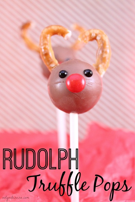 Easy Holiday Candy Recipe- Rudolph Truffle Pops