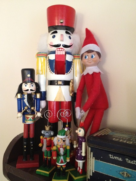 Elf on the Shelf with Nutcrackers