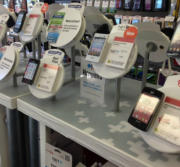 Non-contract phones available at RadioShack