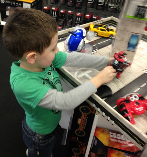 Playing with Toys at RadioShack