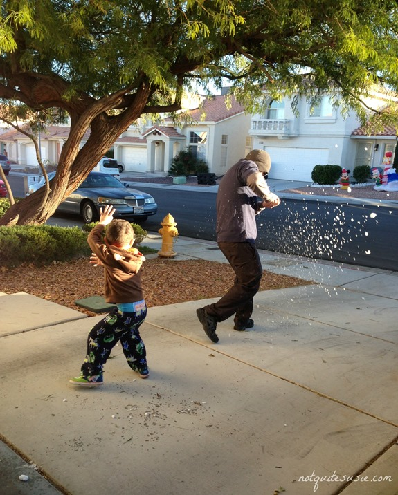Snowball Fight in Vegas