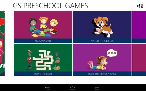 GS Preschool Games Options
