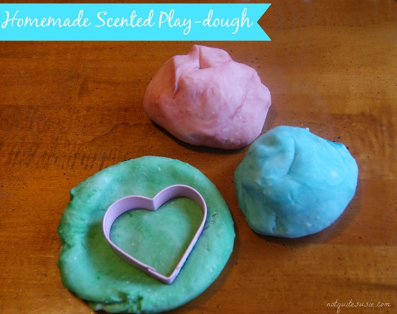 Homemade Scented Play-dough for Valentine's Day