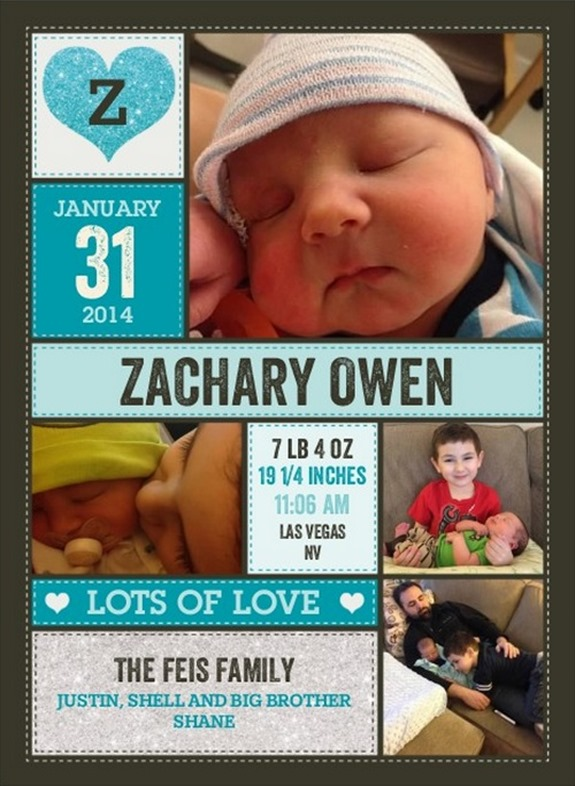 Welcome to the World, Zachary Owen!