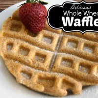 Homemade Whole Wheat Waffles