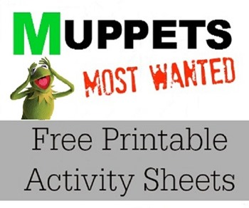 Muppets Most Wanted Free Printable Activity Sheets
