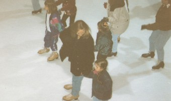 My Mom & I ice skating