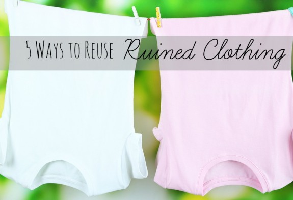 5 Ways to Reuse Ruined Clothing #LaundrySimplified #shop
