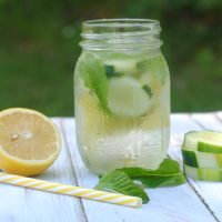 Cucumber Lemon Mint Infused Water